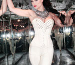 12 corset white with strass